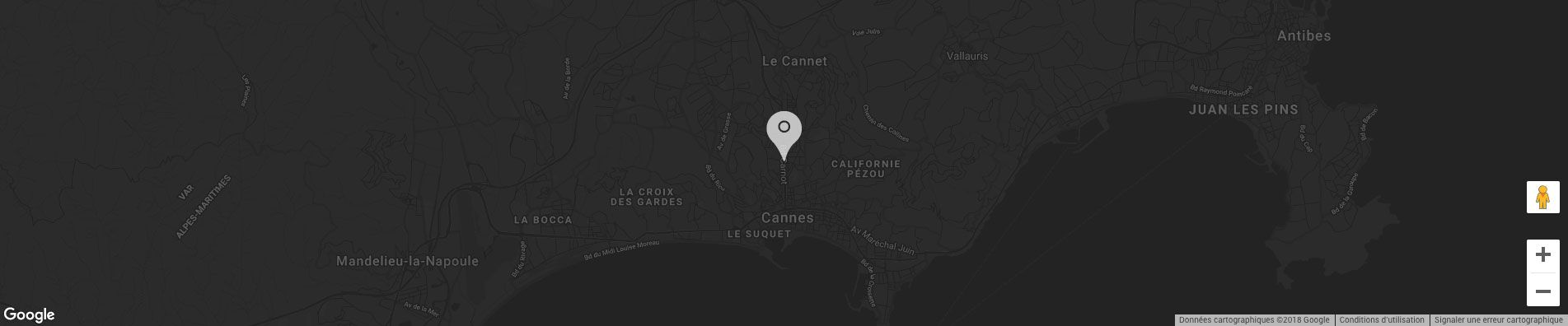 Carte du centre ville de Cannes